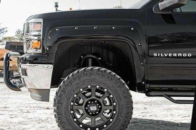 Chevy Silverado 2014-2018 Black Fender Flares