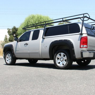 GMC Sierra 2007-2013 Black Fender Flares Pocket Rivet