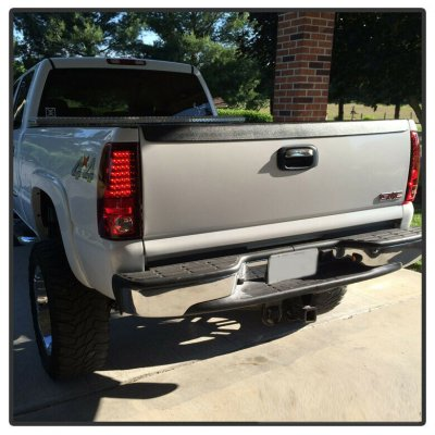 Chevy Silverado 2003-2006 Red and Clear LED Tail Lights