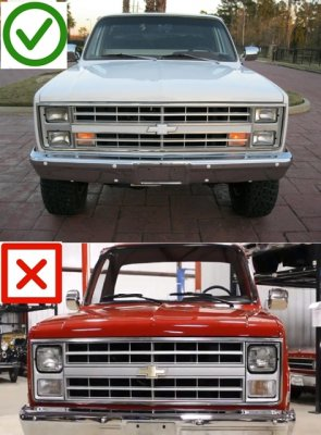 Chevy 1500 Pickup 1981-1987 4 Inch Sealed Beam Projector Headlight Conversion Low and High Beams