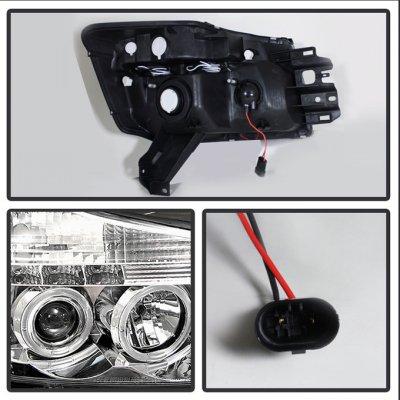 Nissan Titan 2004-2012 Clear Projector Headlights and Fog Lights