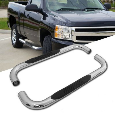 Chevy Silverado Regular Cab 1999-2018 Nerf Bars Stainless Steel