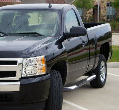 GMC Sierra 3500 Regular Cab 2001-2007 Nerf Bars Stainless Steel