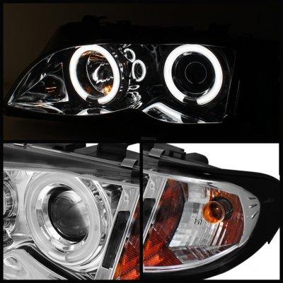 BMW E46 Sedan 3 Series 2002-2005 Clear Halo Projector Headlights
