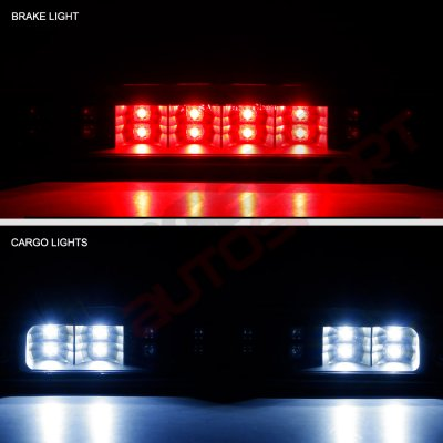 Dodge Ram 2500 1994-2002 Black Smoked Full LED Third Brake Light Cargo Light