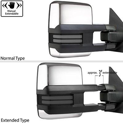 Ford F250 Super Duty 2008-2016 Chrome Tow Mirrors Smoked LED DRL Power Heated
