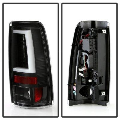 Chevy Silverado 2500HD 1999-2002 Black LED Tail Lights Tube