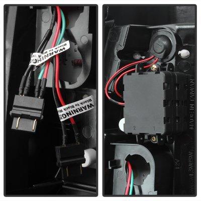 Chevy Silverado 2500HD 1999-2002 Black LED Tail Lights White Tube