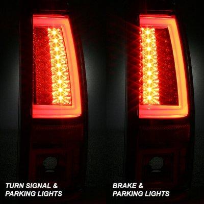 Chevy Silverado 2500HD 1999-2002 Smoked LED Tail Lights Tube