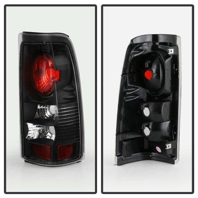 Chevy Silverado 2500HD 1999-2002 Black Altezza Tail Lights