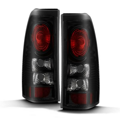 Chevy Silverado 1999-2002 Black Smoked Altezza Tail Lights