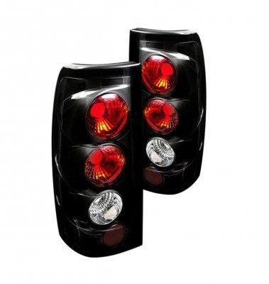 Chevy Silverado 1999-2002 Black Altezza Tail Lights