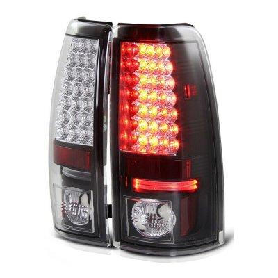 Chevy Silverado 2500HD 1999-2002 Black LED Tail Lights