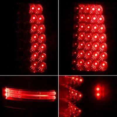 Chevy Silverado 1999-2002 Black Smoked LED Tail Lights