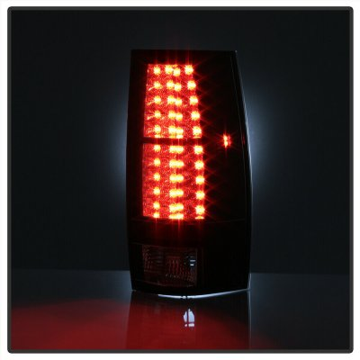 Chevy Suburban 2007-2014 Black LED Tail Lights