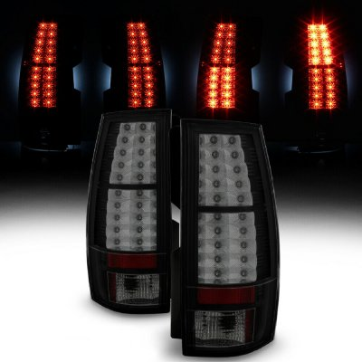 Chevy Tahoe 2007-2014 Black Smoked LED Tail Lights