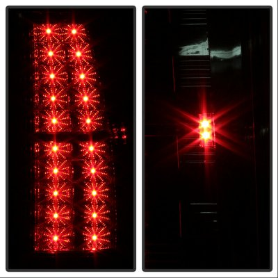 Chevy Suburban 2007-2014 Red and Clear LED Tail Lights