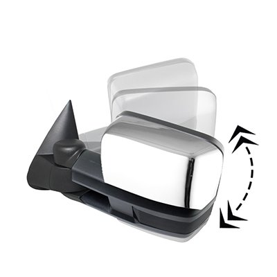 Chevy Silverado 2003-2006 Chrome Power Folding Tow Mirrors Smoked Switchback LED DRL Sequential Signal