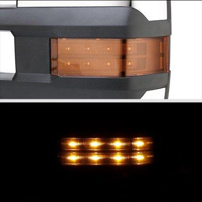 GMC Sierra 1999-2002 Chrome Power Folding Towing Mirrors LED Lights