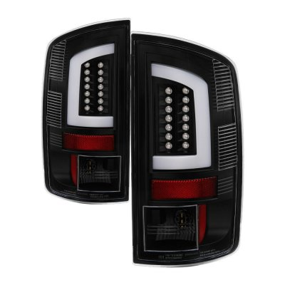 Dodge Ram 2500 2003-2006 Black LED Tail Lights Tube