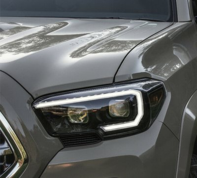 Toyota Tacoma TRD 2016-2021 Smoked LED DRL Projector Headlights Dynamic Signal