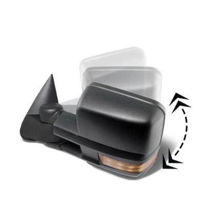 Chevy Silverado 2003-2006 Power Folding Towing Mirrors LED Lights