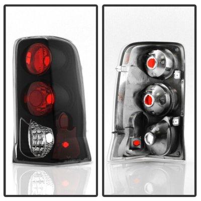 Cadillac Escalade 2002-2006 Black Euro Tail Lights
