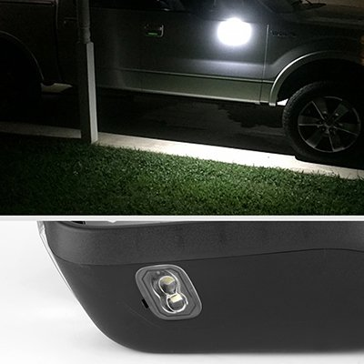 Ford F150 2015-2020 Glossy Black Towing Mirrors Power Heated Smoked LED Signal Puddle Lights