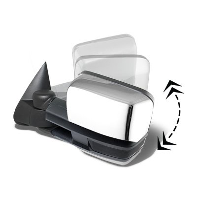 Chevy Silverado 2500HD 2003-2006 Chrome Power Folding Towing Mirrors Smoked LED Lights