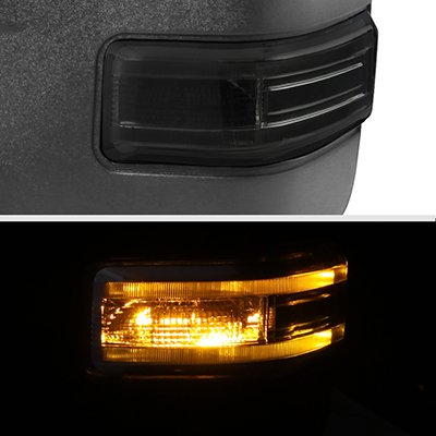 Ford F150 2009-2014 New Towing Mirrors Power Heated Smoked LED Signal Puddle Lights