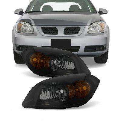 Chevy Cobalt 2005-2010 Black Smoked Euro Headlights