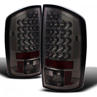 Dodge Ram 3500 2007-2009 Smoked LED Tail Lights