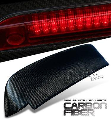 Honda Civic Hatchback 1992-1995 Carbon Fiber Spoiler with LED