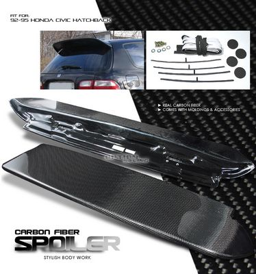Honda Civic Hatchback 1992-1995 Spoon Style Carbon Fiber Spoiler