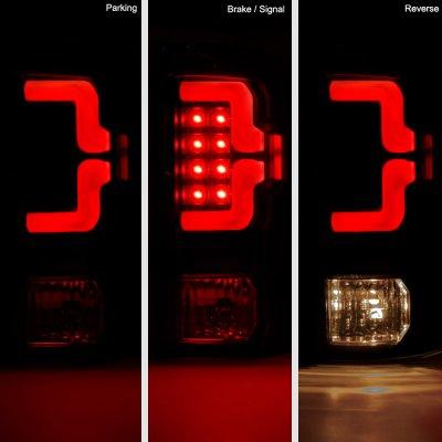 Dodge Ram 2009-2018 Black Custom LED Tail Lights Red Tube