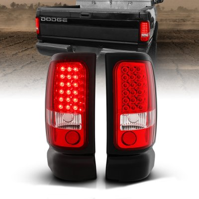 Dodge Ram 1994-2001 LED Tail Lights Red and Clear