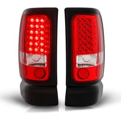 Dodge Ram 2500 1994-2002 LED Tail Lights Red and Clear
