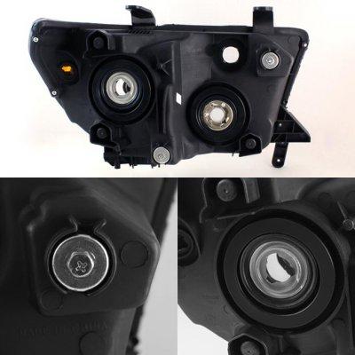 Toyota Tundra 2007-2013 Black Smoke Euro Headlights