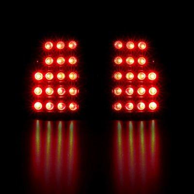 Chevy Silverado 2500 1999-2002 LED Tail Lights Black