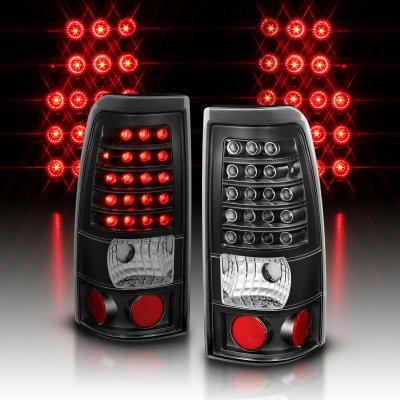 Chevy Silverado 2500HD 2001-2002 LED Tail Lights Black