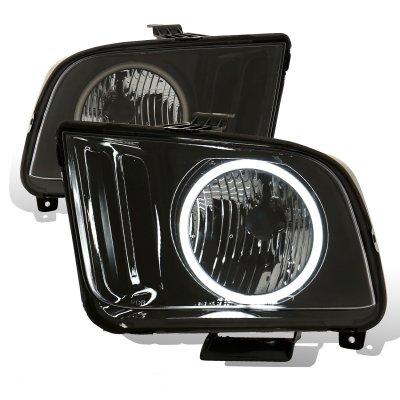 Ford Mustang 2005-2009 Black Halo Headlights