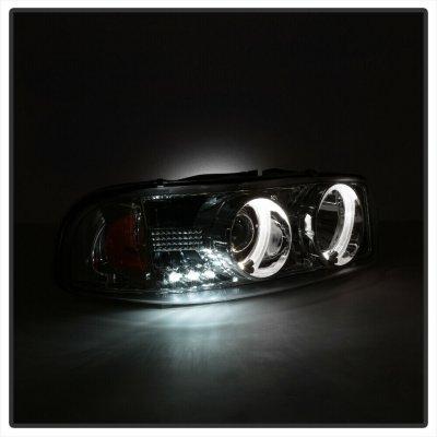 GMC Yukon 2000-2006 Clear Dual Halo Projector Headlights with LED