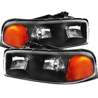 GMC Yukon 2000-2006 Black Euro Headlights