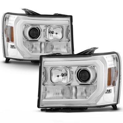 GMC Sierra 2007-2013 LED DRL Projector Headlights