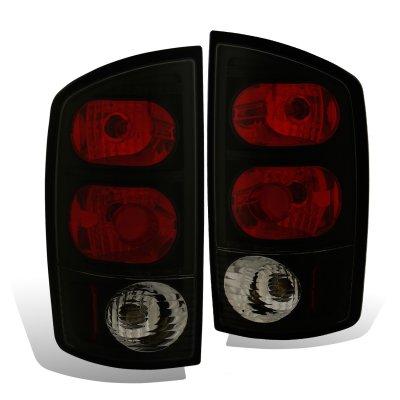 Dodge Ram 2500 2003-2006 Black Smoked Custom Tail Lights