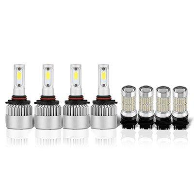 Chevy Silverado 2007-2013 LED Headlight Bulbs Complete Kit