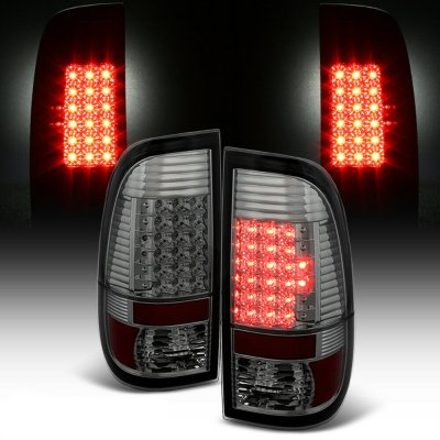 Ford F250 Super Duty 2008-2016 Smoked LED Tail Lights