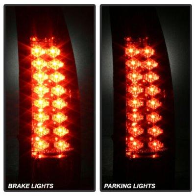 Chevy Silverado 1988-1998 Black LED Tail Lights