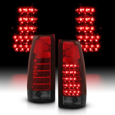 Cadillac Escalade 1999-2000 Red and Smoked LED Tail Lights