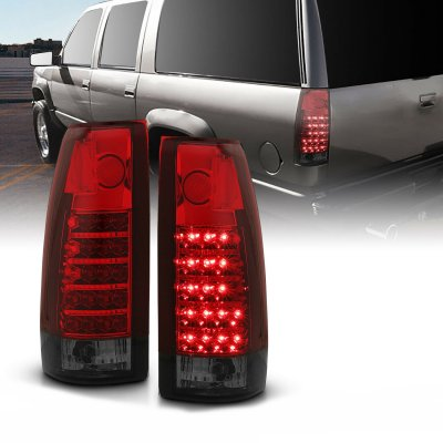 GMC Sierra 1988-1998 Red and Smoked LED Tail Lights
